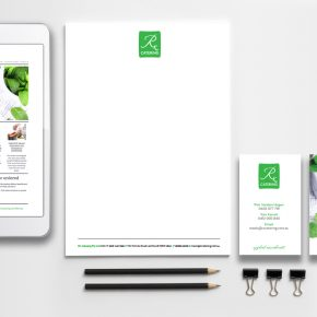 Rx Catering brand identity